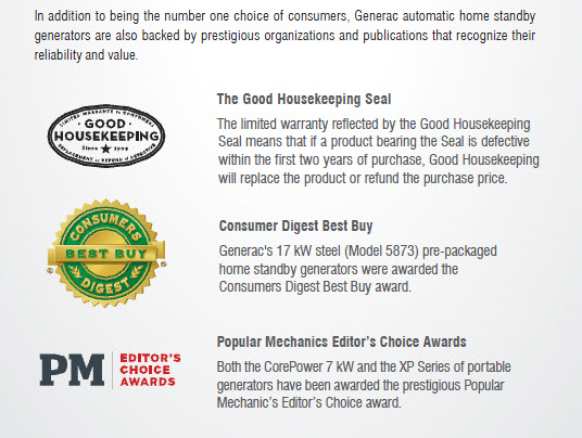 Generac Generators - Consumers' Choice