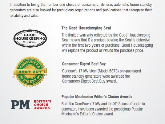 Generac Generators - Consumers' Choice