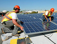 Solar Energy Systems - Solar panel array installation